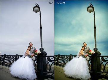 Постобработка свадебных фотографий